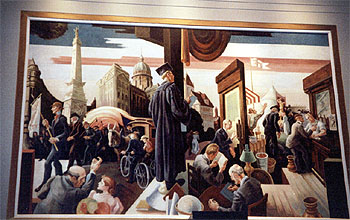 Thomas Hart Benton murals at IU Auditorium, Bloomington, Indiana