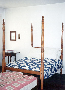 Bedroom of the Wylie House, Bloomington, Indiana